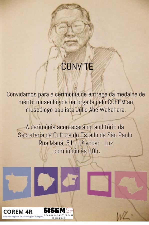 convite outorga de medalha Julio Abe